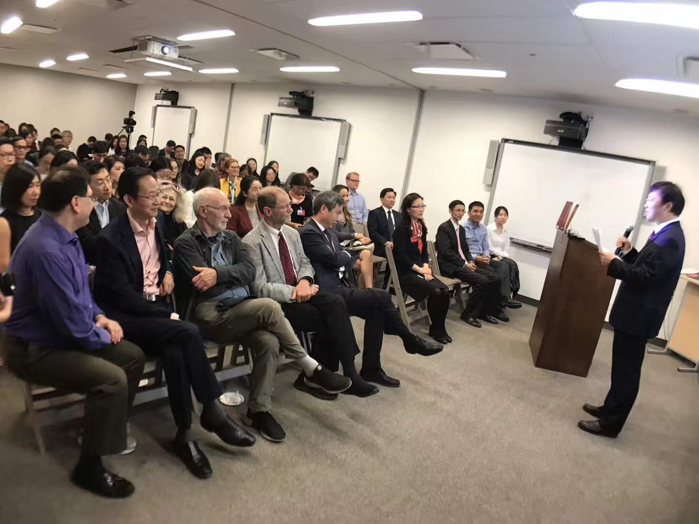 The launch ceremony is held in the China Institute in America.