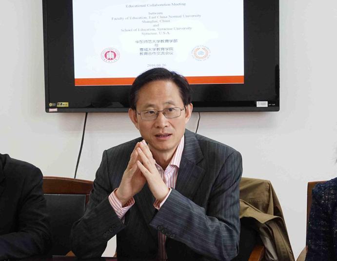 美国雪城大学教育学院院长一行来访教育学部共商研究生联合培养并举办学术讲座