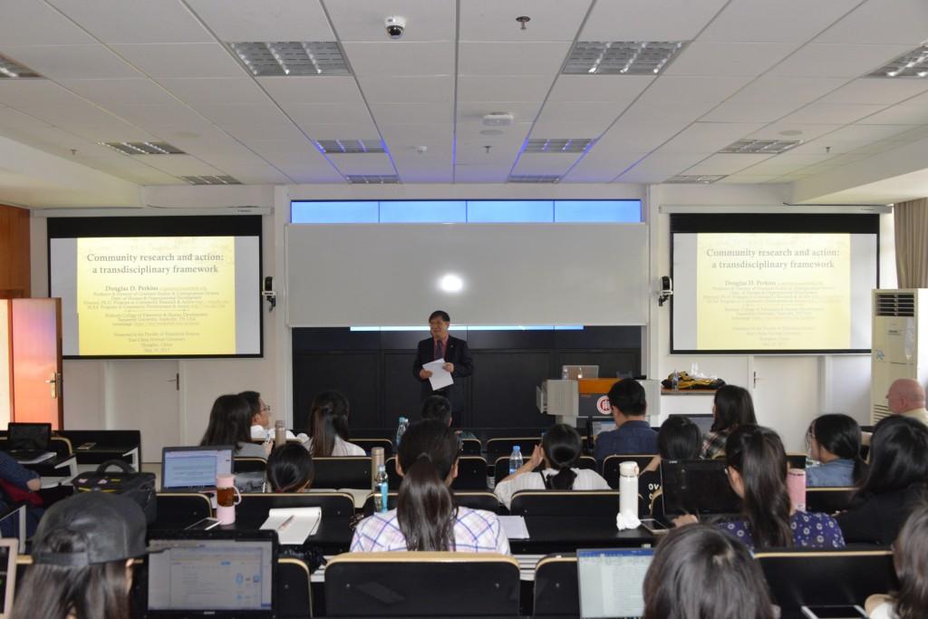美国范德堡大学Douglas D.Perkins教授来教育学部职成所进行学术交流
