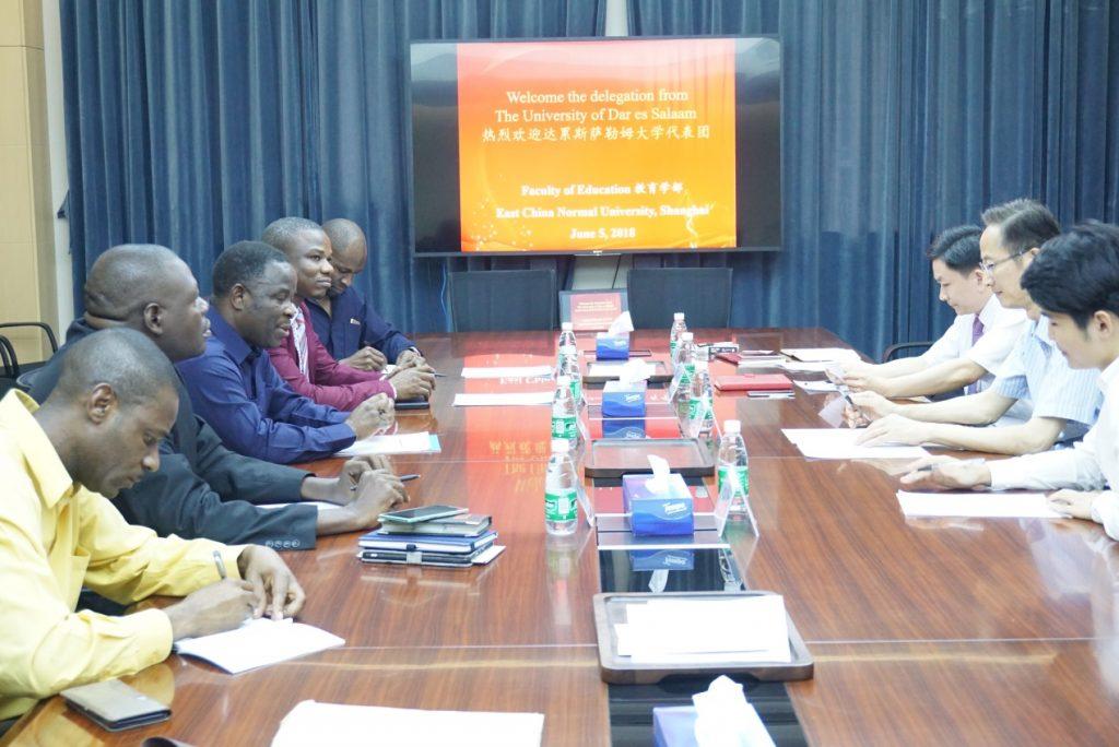 坦桑尼亚达累斯萨拉姆大学校长来访教育学部