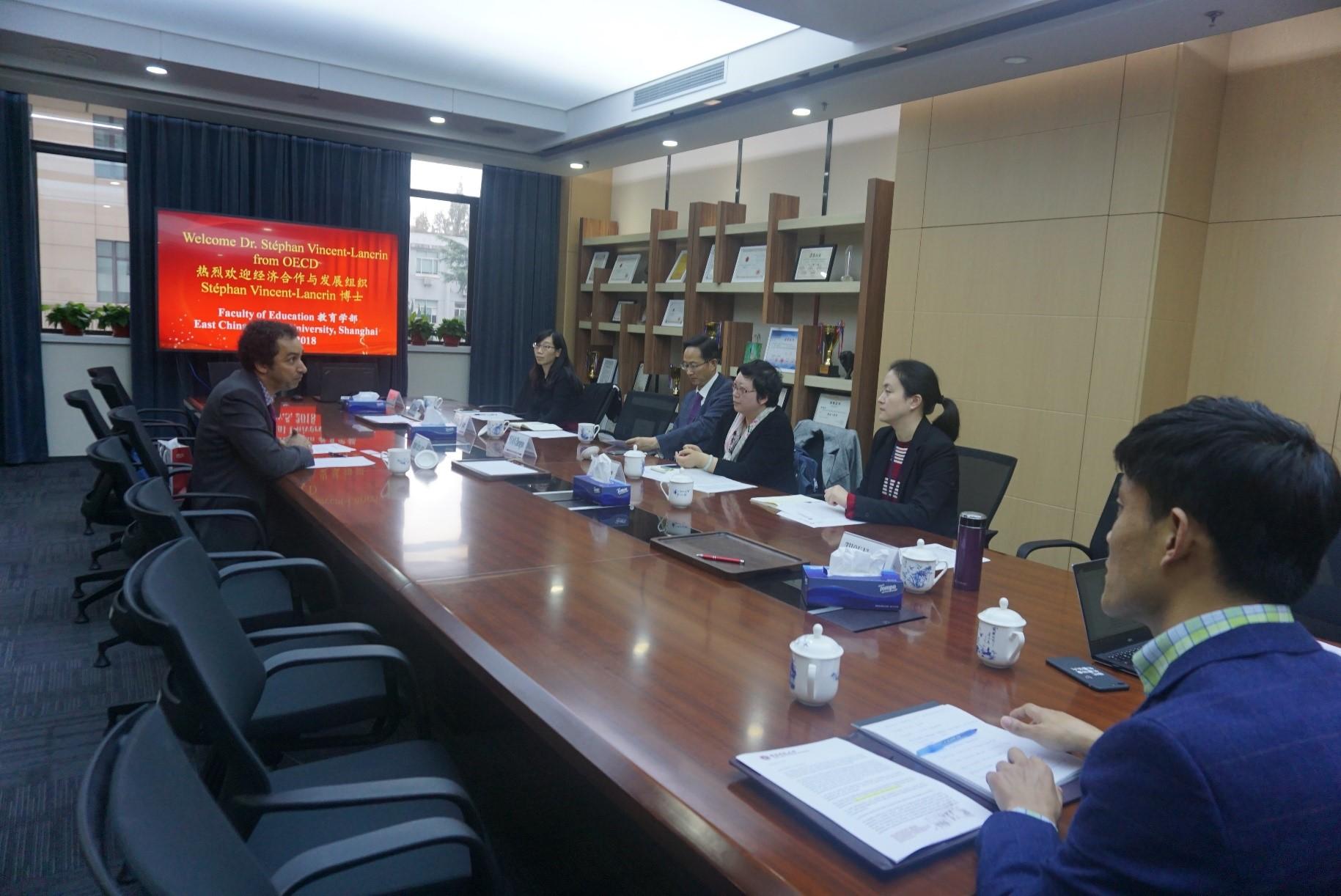 经济合作与发展组织(OECD)教育与技能部项目主管访问教育学部